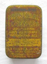 H. & T. Kirby & Co. Ltd. Mentholated Bronchial Lozenges - vintage tin